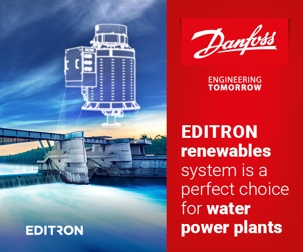 Editron Renewables system is a perfect choice for water power plants