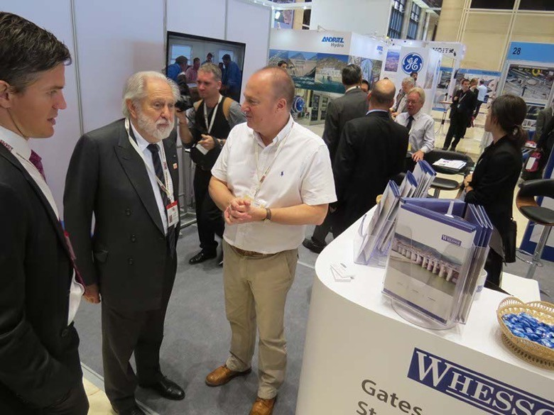 Lord Puttnam hears about the gates for the 1285 MW Xayaburi scheme