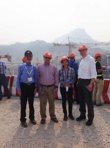 1285 MW Xayaburi run-of-river scheme under construction