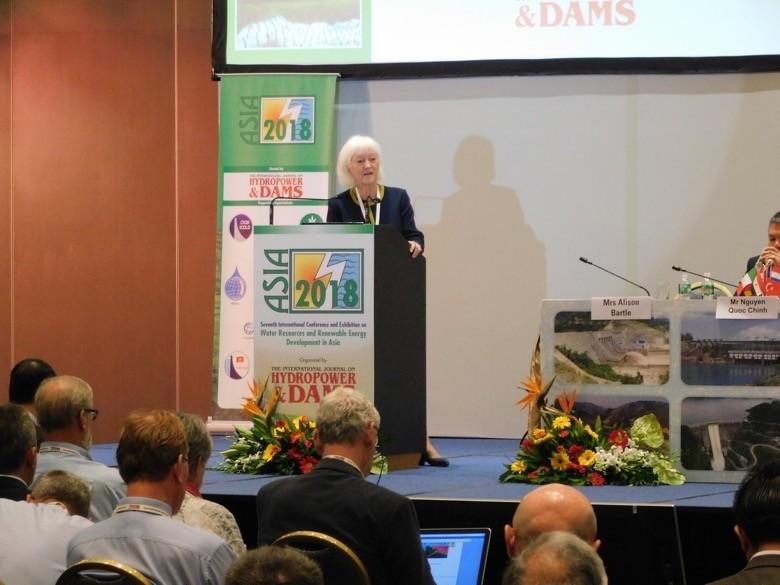 Aqua~Media Director Alison Bartle welcomes delegates