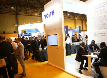Voith Hydro stand
