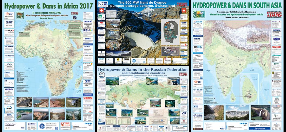Maps & Posters   Hydropower & Dams International